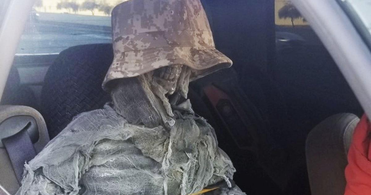 'Skeletor riding shotgun': Lone driver mencoba menggunakan fake kerangka untuk HOV lane