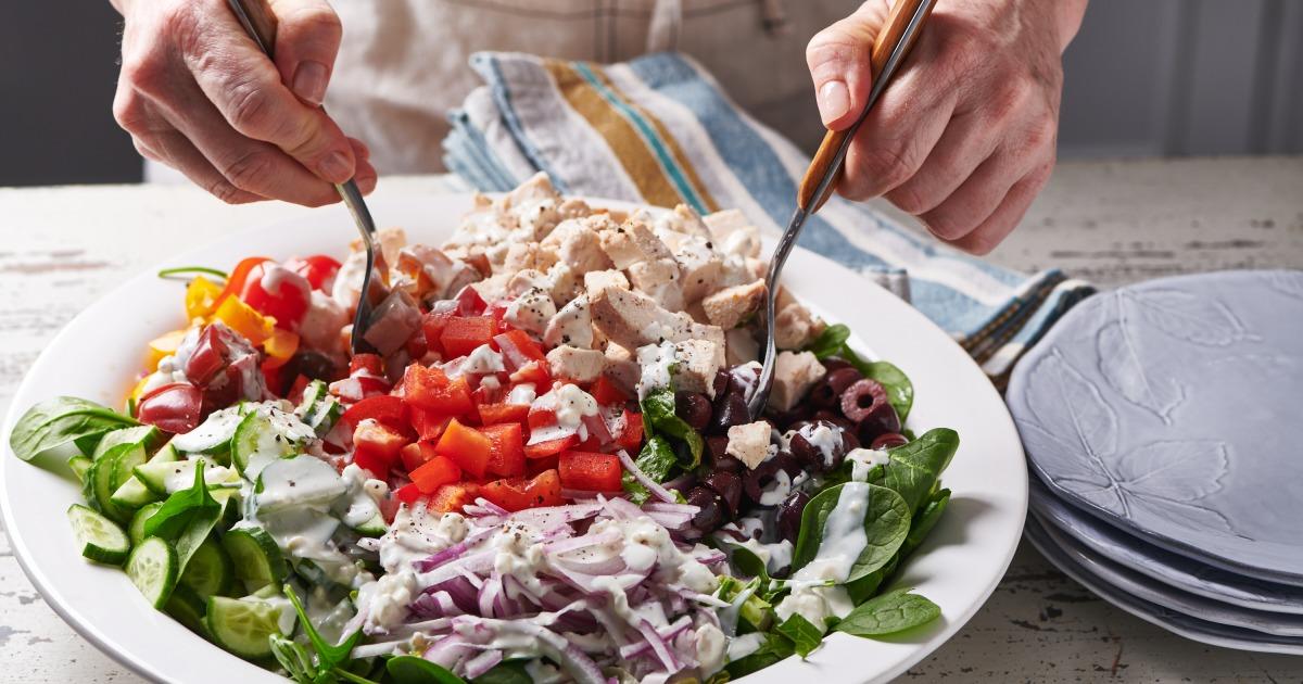 3、健康サラダのレシピをもつ