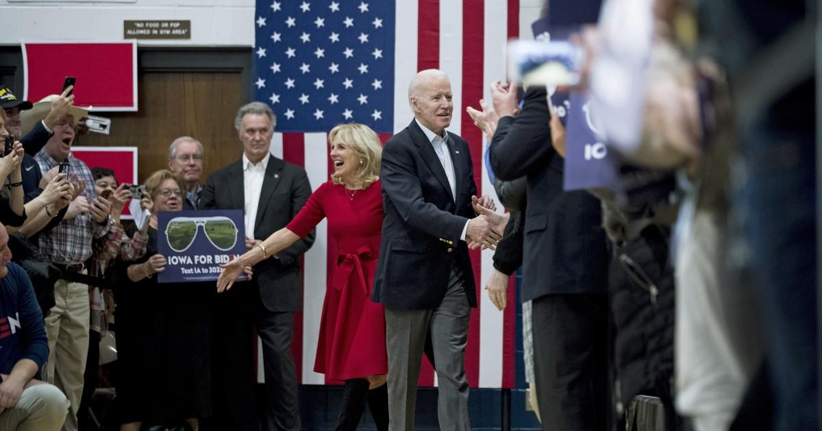 Die Anteile für Biden heute Abend in Iowa sind enorm
