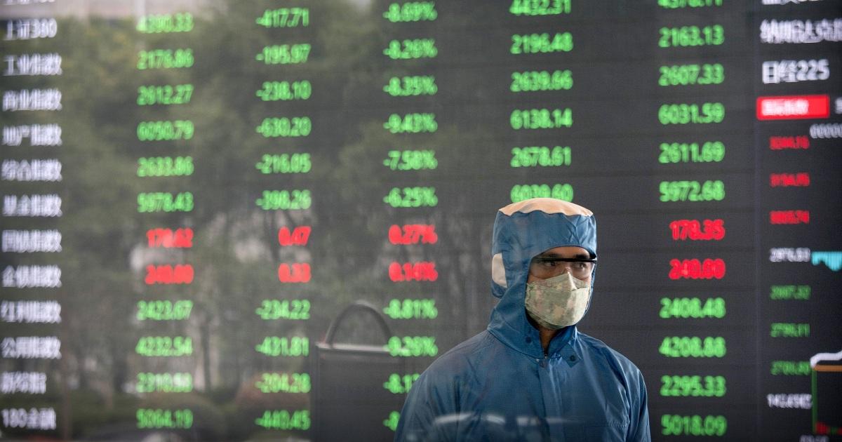 Coronavirus σφυριά Κινεζικά αποθέματα, καθώς η οικονομική διοδίων αναρτήσεις