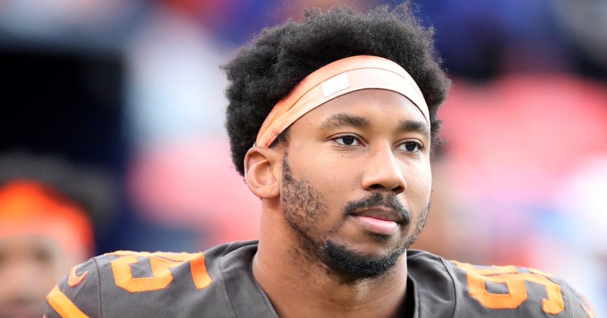 Browns' Myles Garrett verdoppelt nach unten auf Anspruch Steelers QB verwendet racial slur
