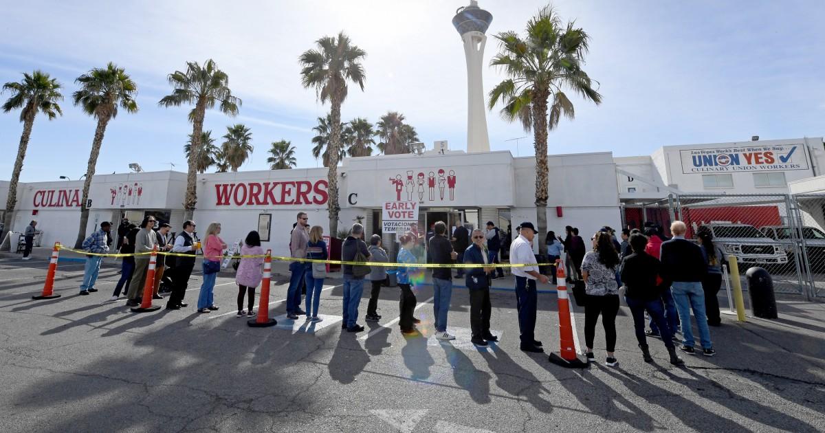 Πρόωρη ψηφοφορία ευλογία για Las Vegas Strip εργαζομένων