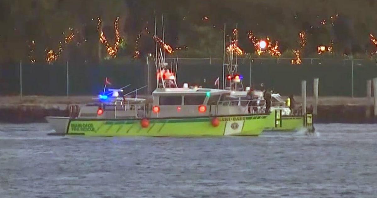 Zwei Frauen tot nach Auto stürzt ab und Fähre in die Gewässer aus exklusiven Miami island