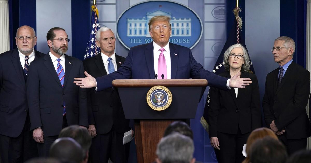 Το γεγονός έλεγχο Trump νέα διάσκεψη για coronavirus