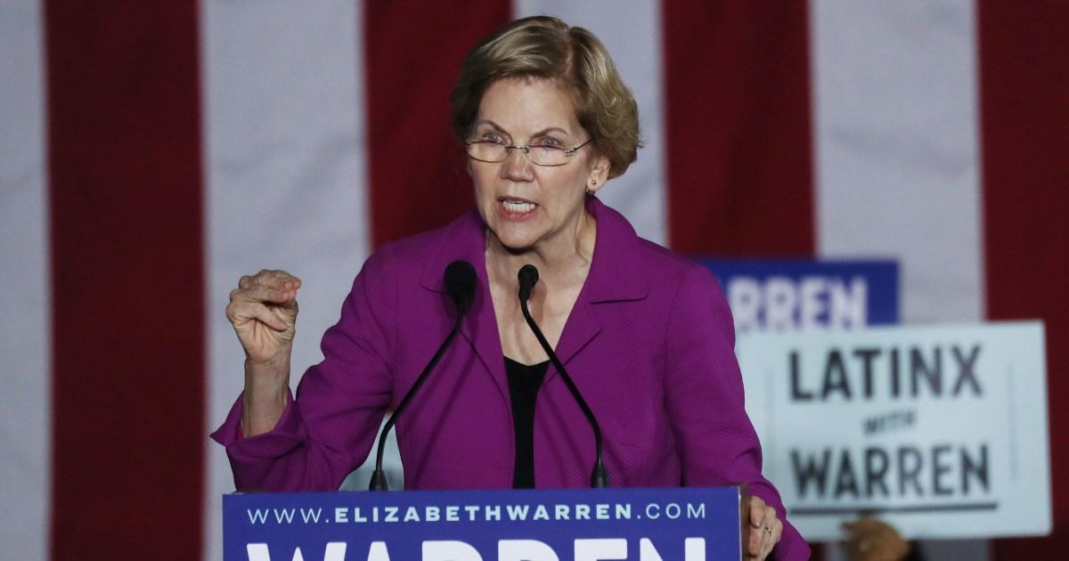 Warren nimmt es mit Biden: Eine 'Washington-insider, nicht erfüllen dieser moment'