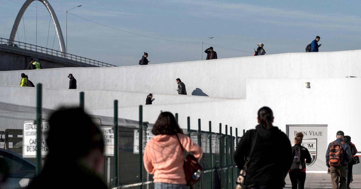 Mehr als 150 service-Mitglieder gingen zu den Grenzübergängen in Kalifornien, Texas