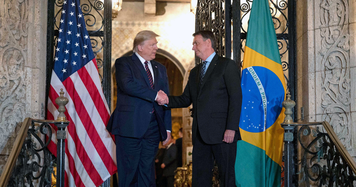 Die brasilianischen Beamten, traf Trumpf im Mar-a-Lago tests positiv für coronavirus