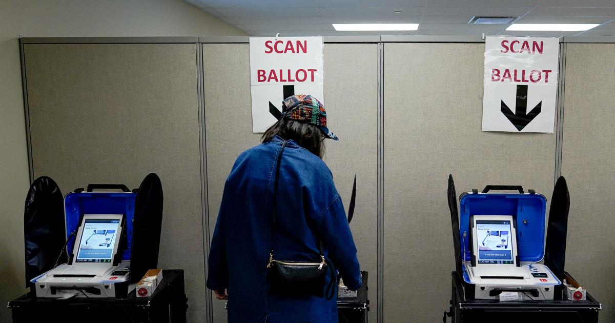 Biden fordert Wählern zur Stimmabgabe Stimmzettel am Dienstag Vorwahlen als coronavirus Bedenken montieren