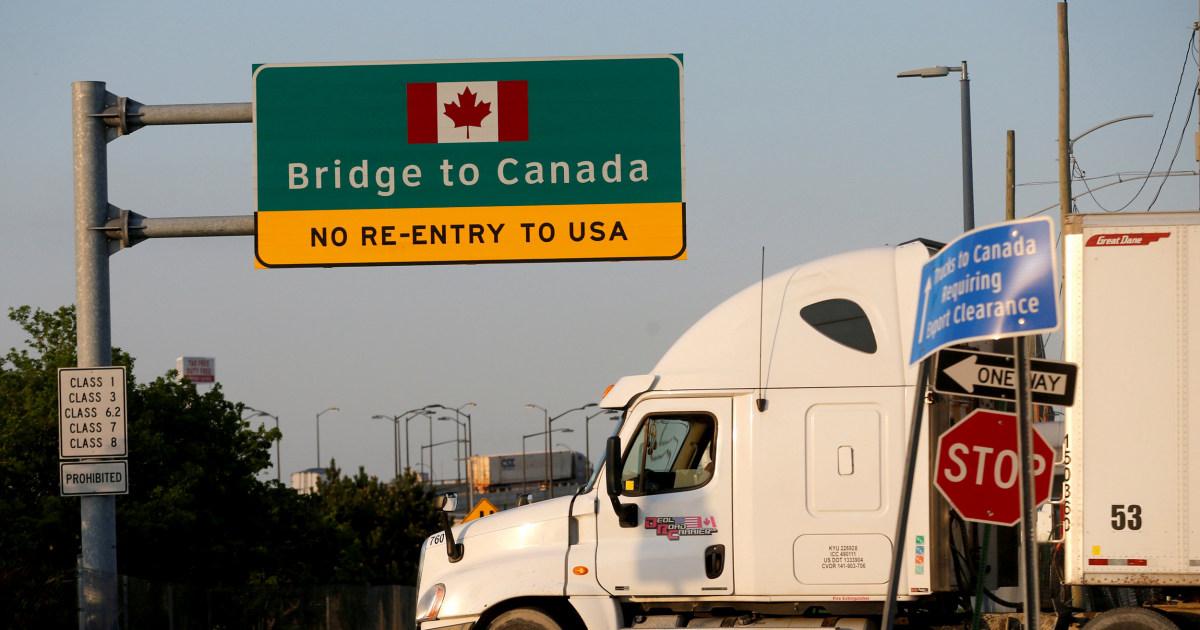 USA und Kanada Stimmen zu, nahe der Grenze zu
