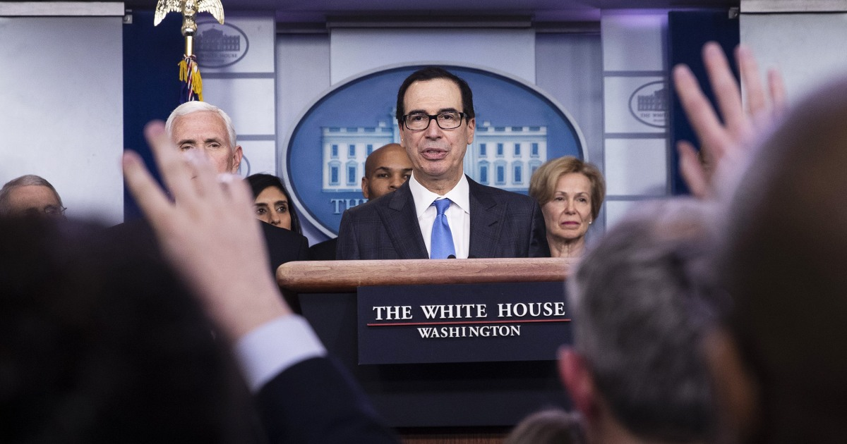 U.S. 'will not have' unemployment rate of 20 percent, Mnuchin says
