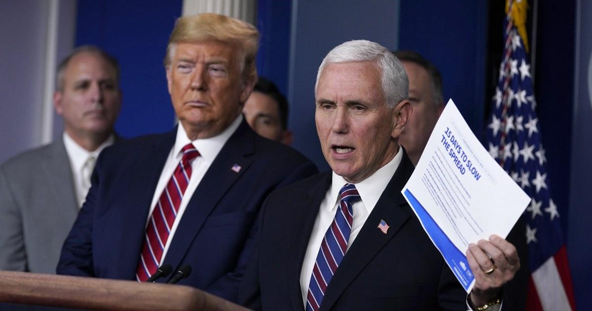 Υπάλληλος, Αντιπρόεδρος Mike Pence θετικό για την coronavirus
