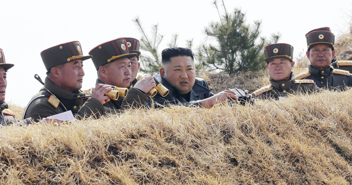 North Korea test fires two projectiles into the sea off eastern coast