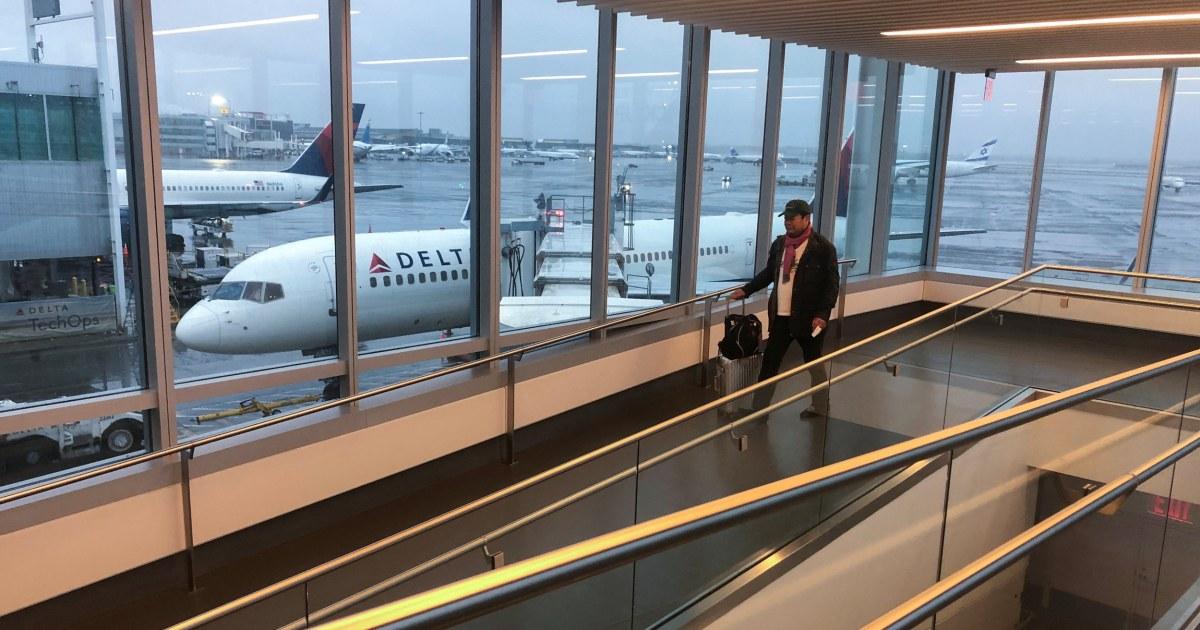 Coronavirus-kurz-Gelände-Flüge nach New York und Philadelphia Flughäfen
