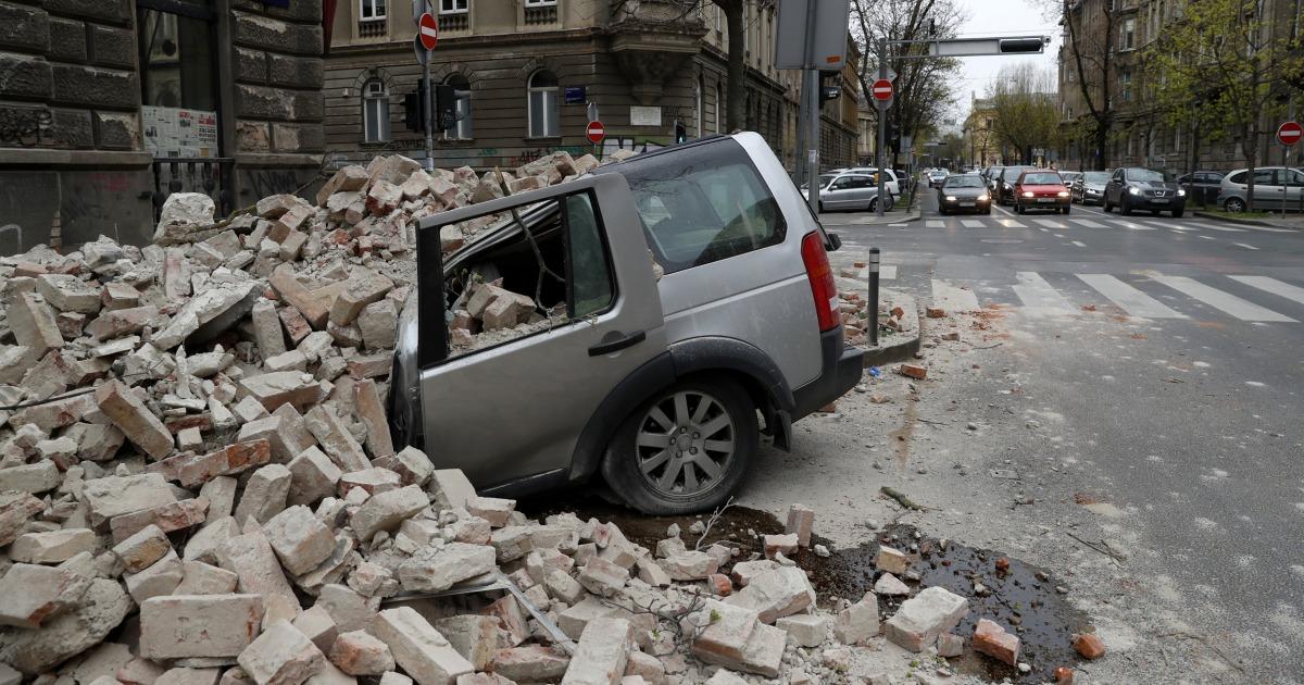 Starkes Erdbeben Felsen Kroatien verursacht weit verbreitete Panik und Schäden in der Hauptstadt