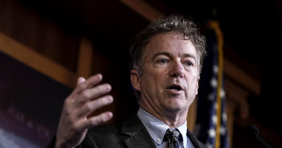 Rand Paul wird der erste senator bekannt, die positive test für coronavirus