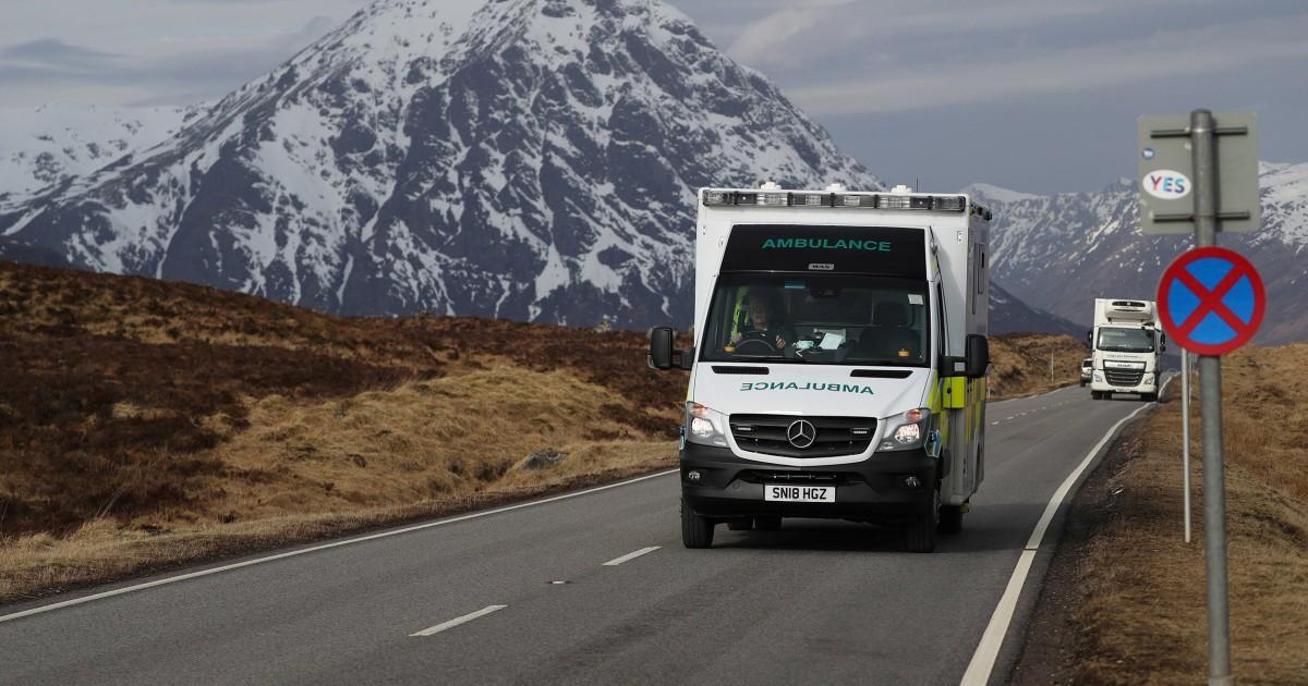 Scottish κάτοικοι της πόλης-τη φυγή του ιού είπε να πάω σπίτι