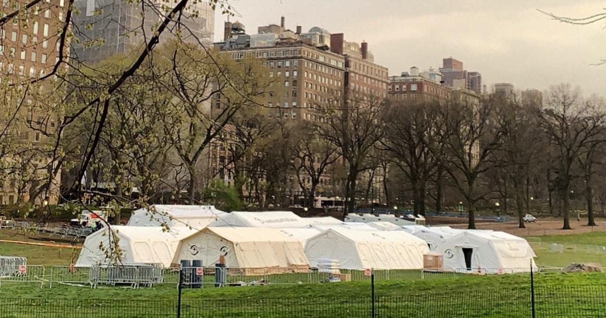 Tidak ada wisatawan, hanya pasien: NYC area mengkonversi ke rumah sakit