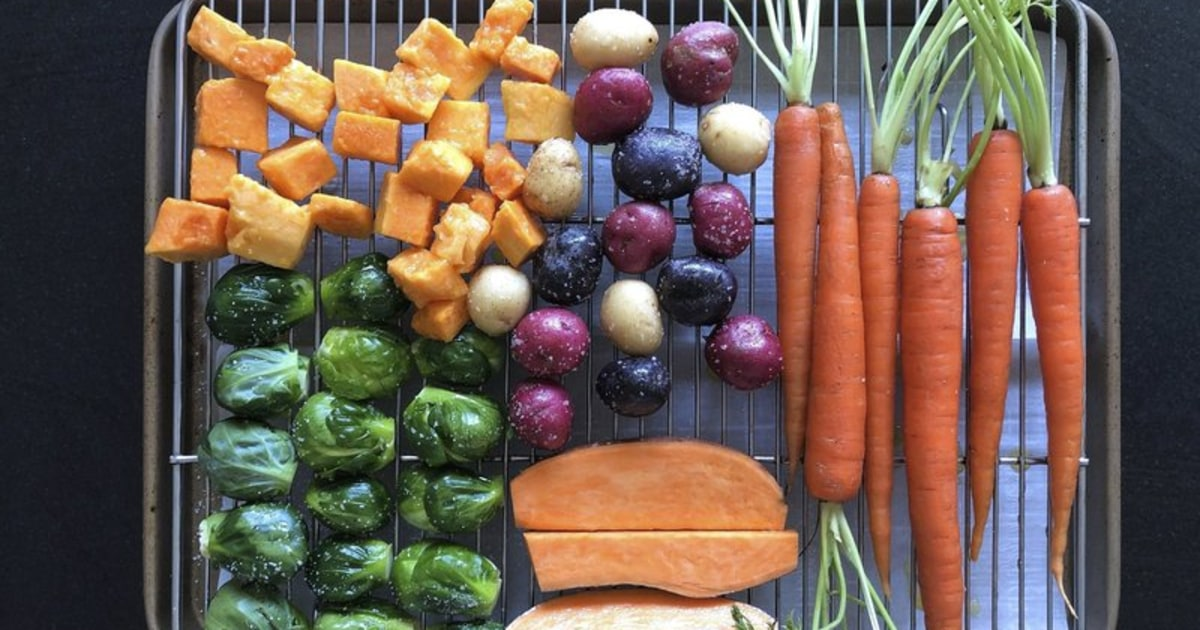 Memasak lebih banyak di rumah? Memanggang sayuran, membuat makan yang sehat lebih mudah