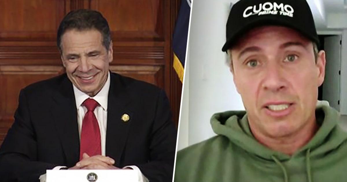 Gubernur Andrew Cuomo, saudara Chris olok-olok seperti CNN anchor pembicaraan nya coronavirus