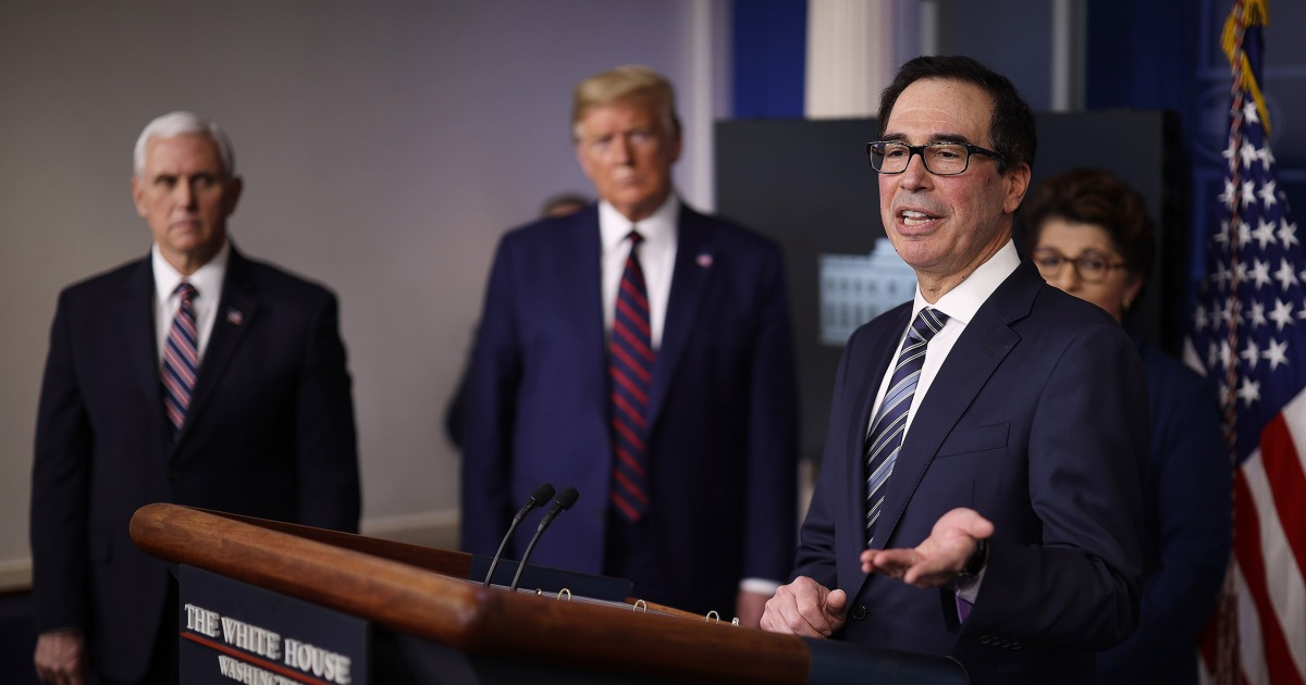 Mnuchin praises first day of small-business loan program — but applicants call it 'confusion' and 'a scam'
