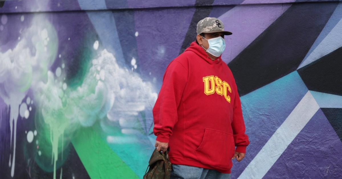 L. A. mandat masker untuk perjalanan penting