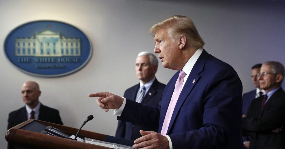Coronavirus krisis menyoroti Trump kurangnya perawatan kesehatan rencana