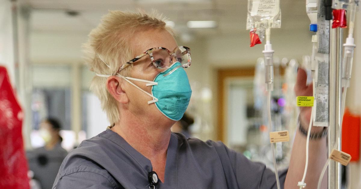 Traurigkeit, Erholung an der New-Jersey Krankenhaus an der front des coronavirus kämpfen