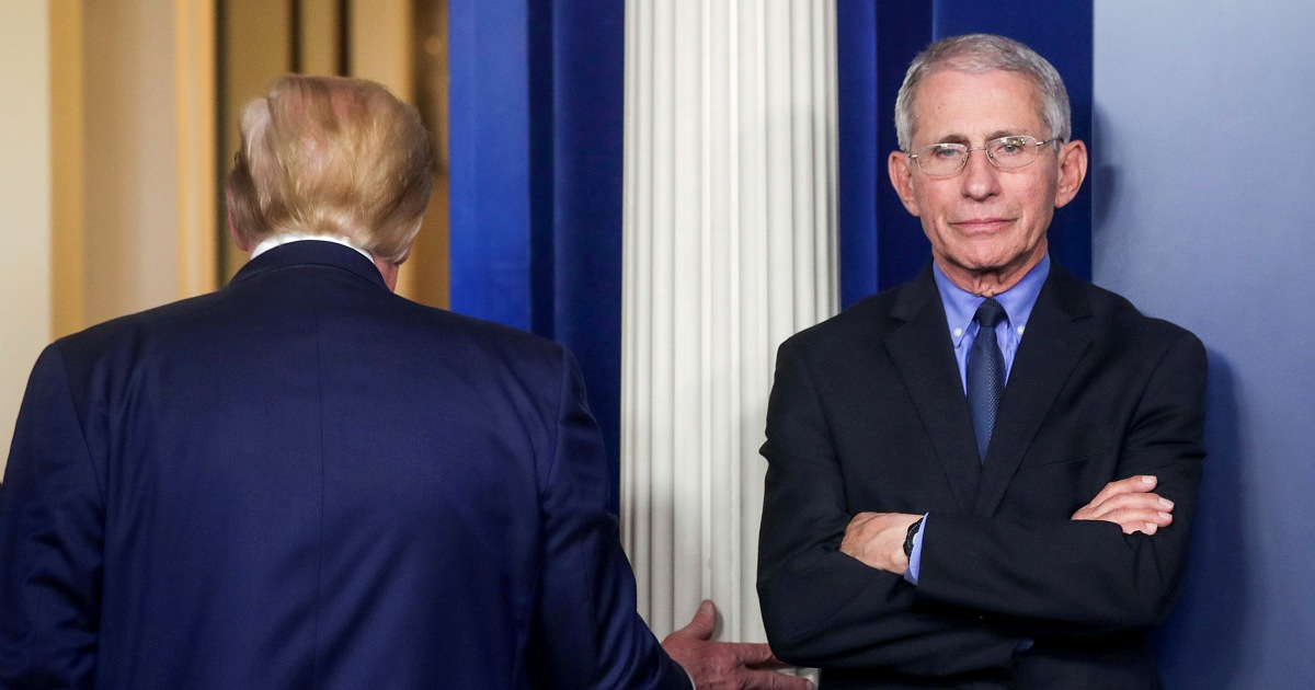 Trump mocks Fauci's pitching arm and his Covid predictions