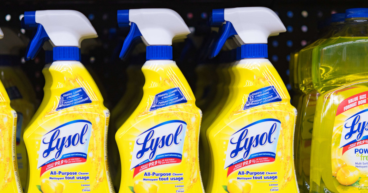 Lysol maker warns against internal use of disinfectants after Trump comments