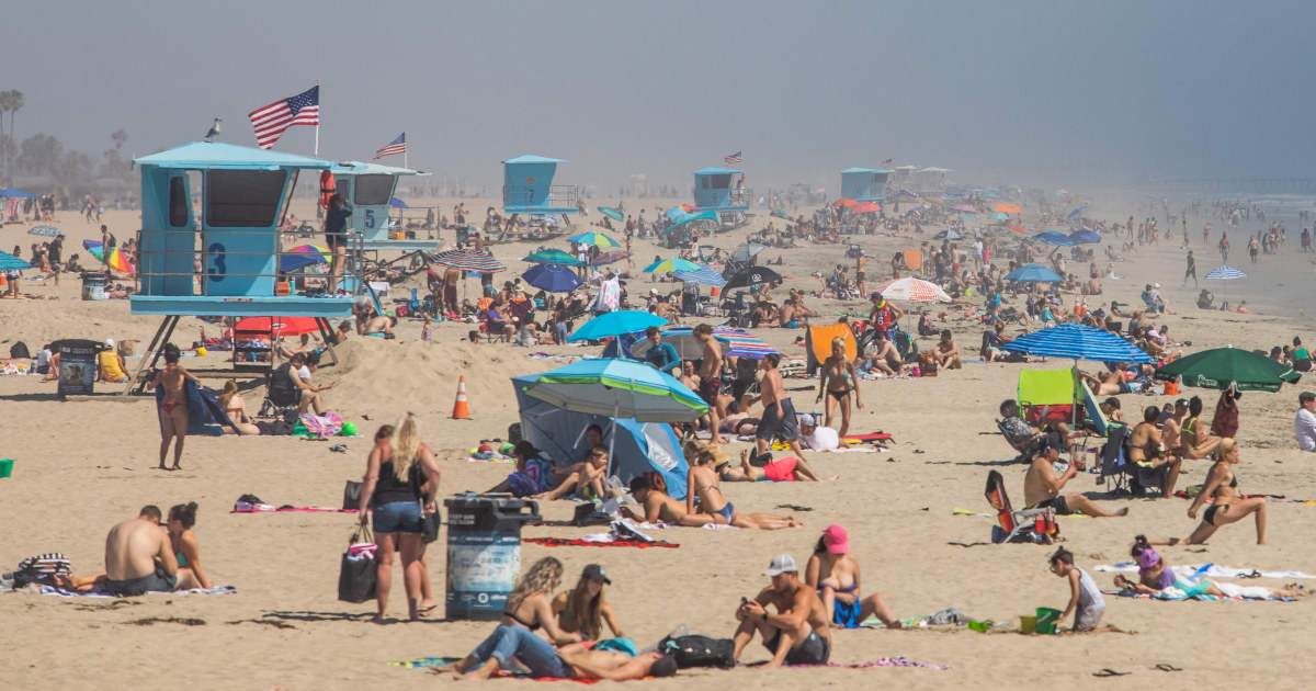 California heat wave draws large crowds to beaches despite stay-at ...