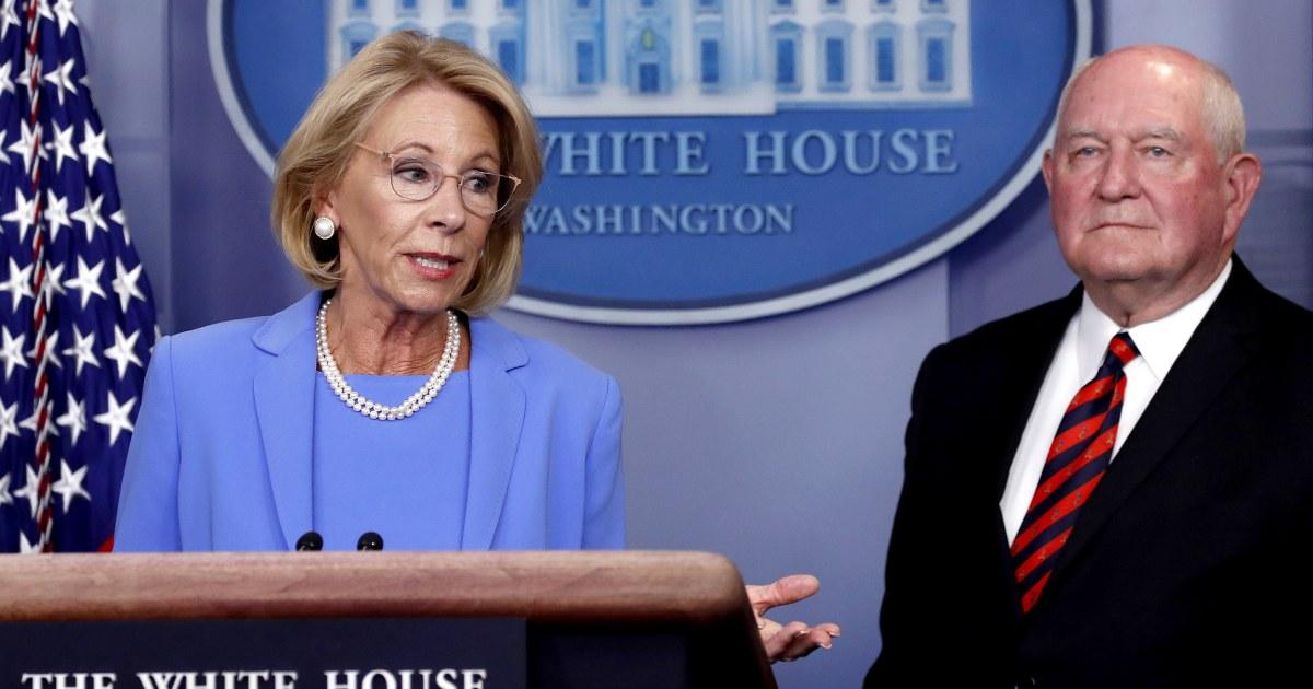 DeVos eyes redirecting education funds, faces immediate pushback