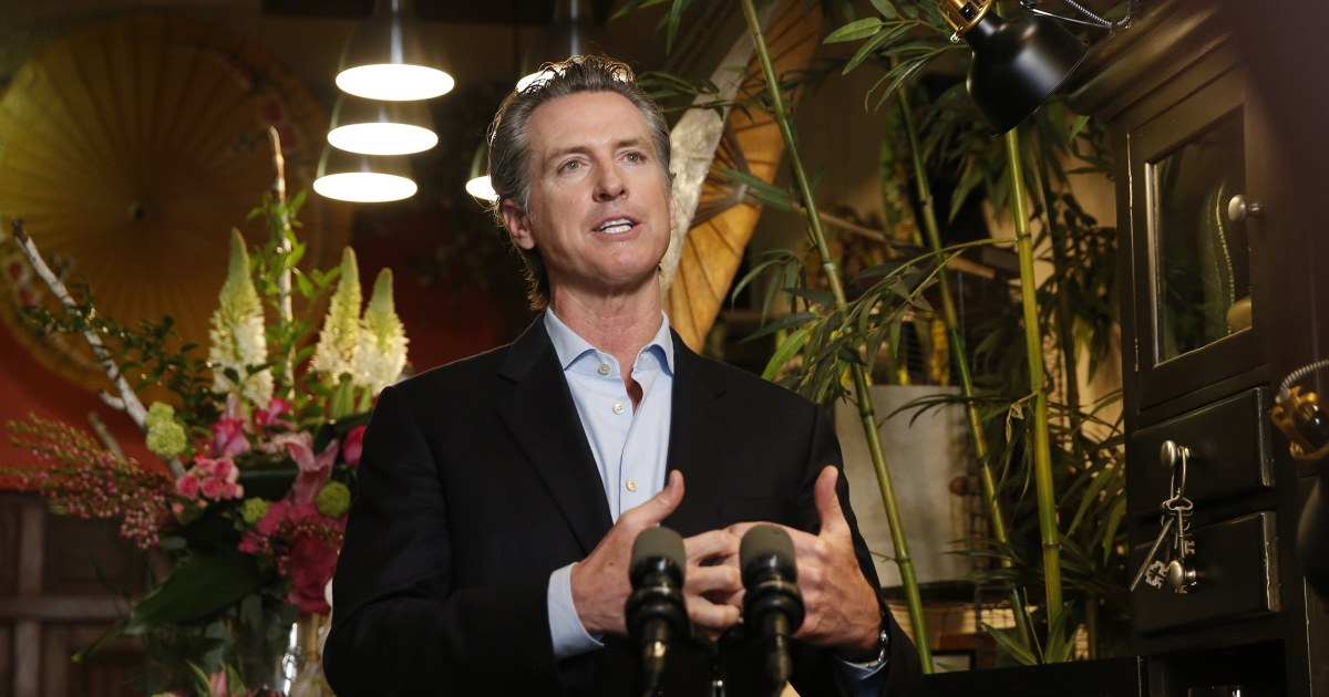 California Gov. Newsom says community spread started at nail salon