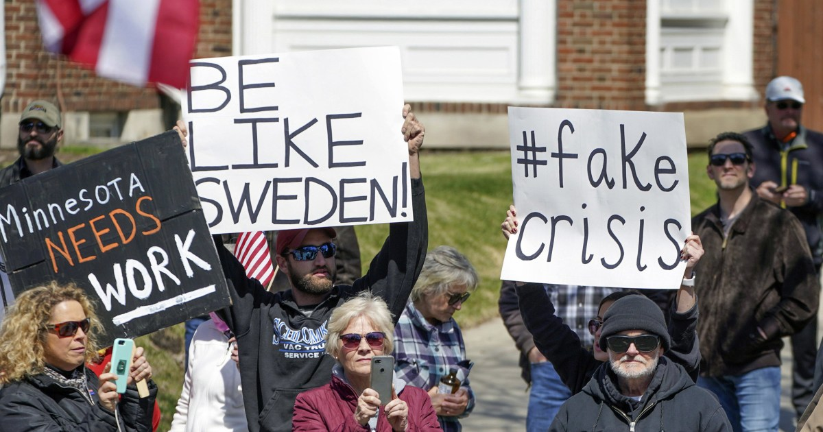 Lockdown protesters shout 'be like Sweden' — but Swedes say they are missing the point