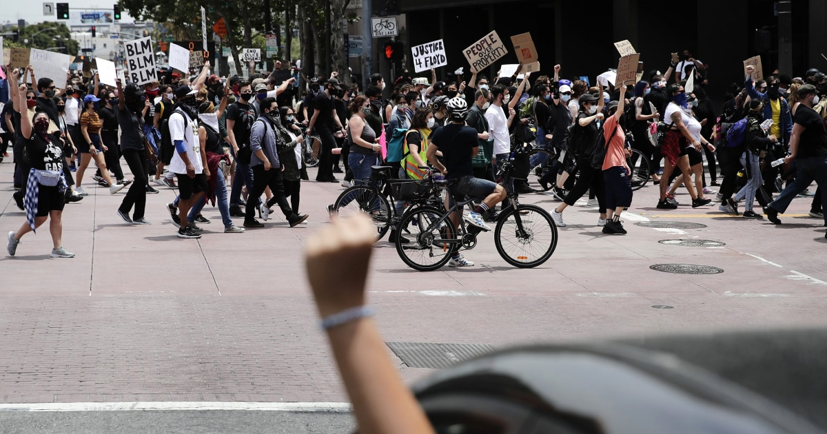 Protests show no sign of fading more than a week after the death of George Floyd