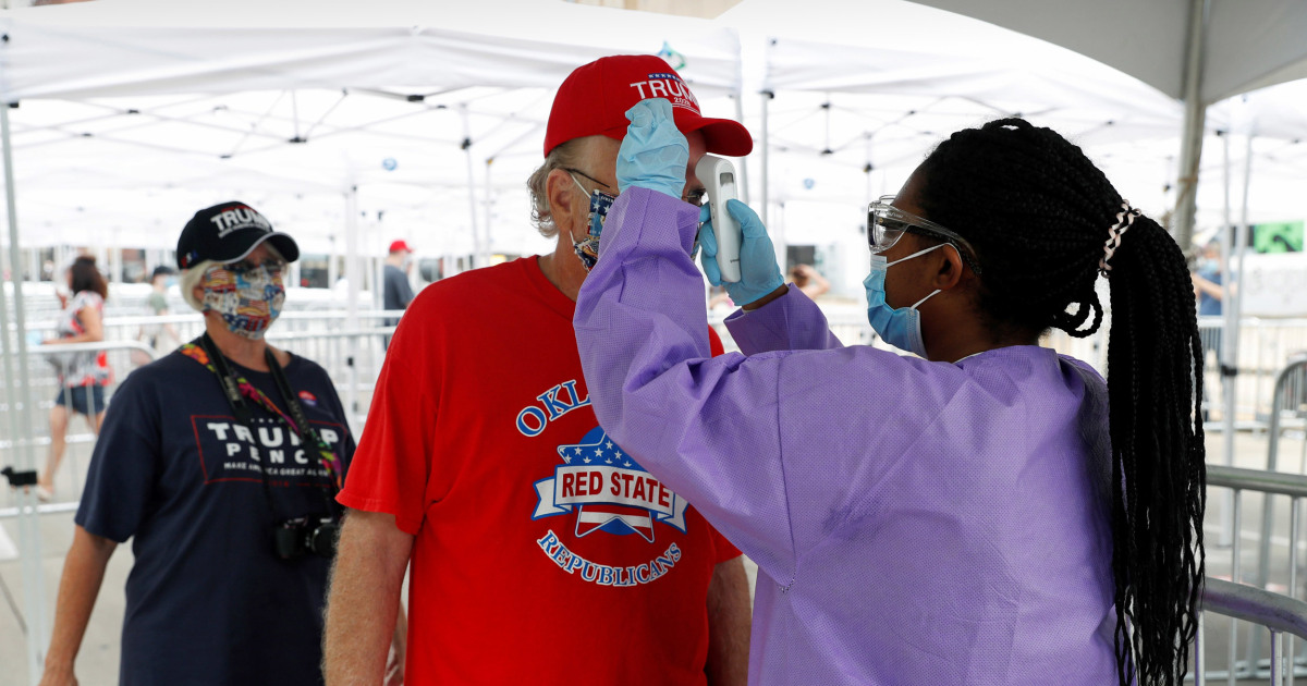 6 Trump campaign members in Tulsa test positive for the coronavirus ahead of rally thumbnail