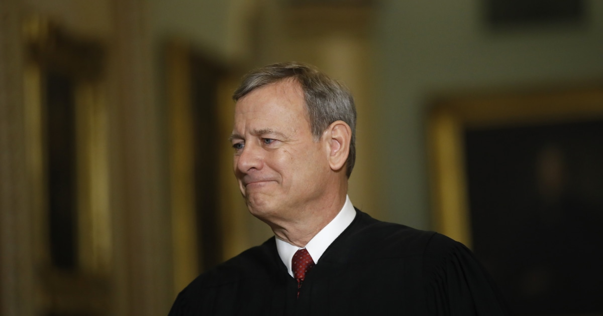 Chief Justice John Roberts was briefly hospitalized last month for head injury after fall - NBC News
