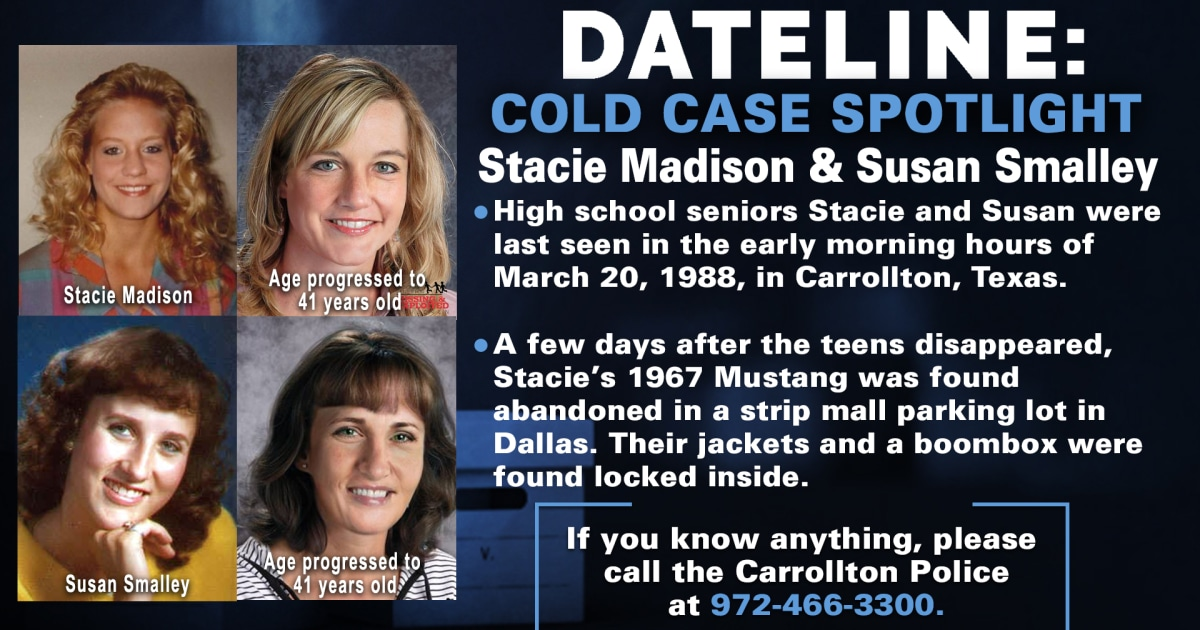 Disappearance of Stacie Madison and Susan Smalley still a mystery 32 years later