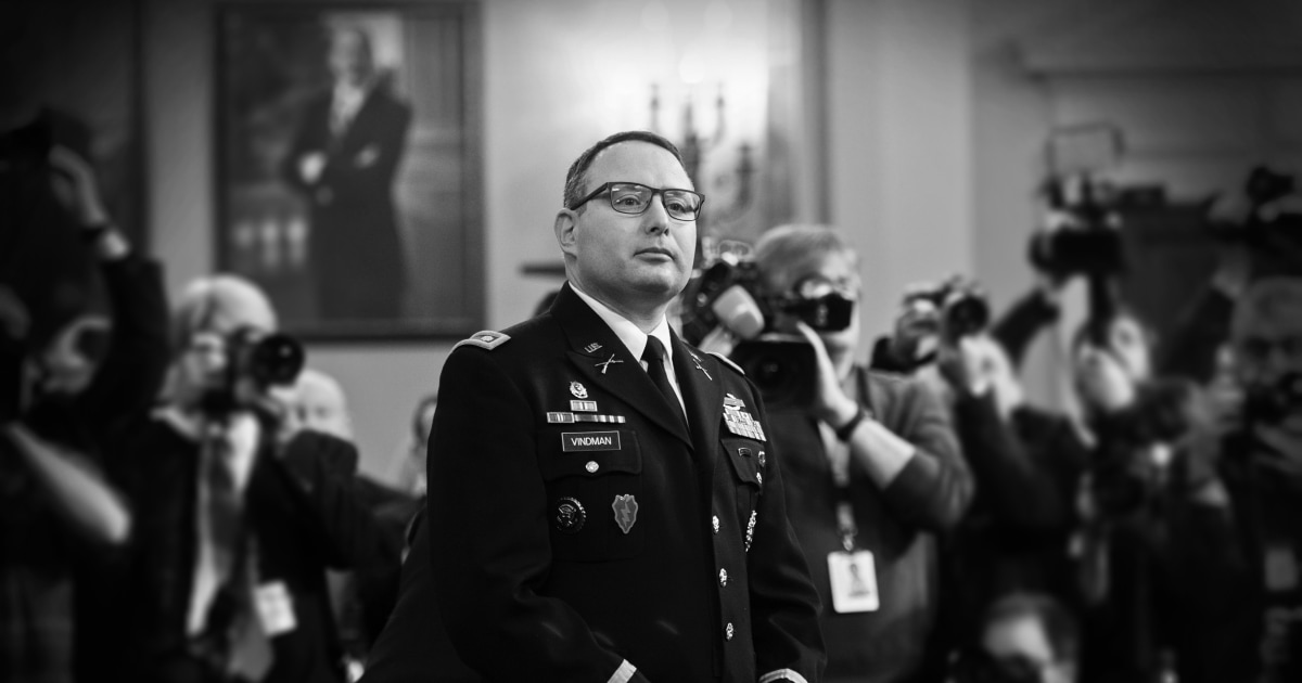 Opinion | Trump's bullying of Lt. Col. Vindman will be studied by military cadets for years