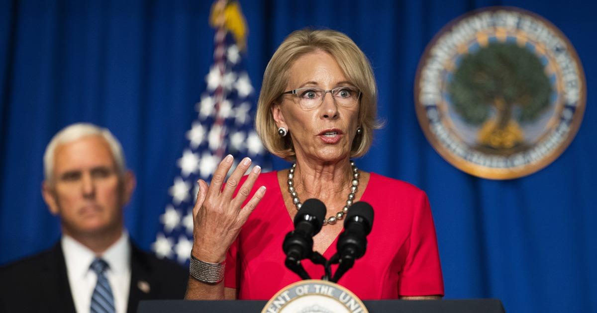 Betsy DeVos struggles to defend school re-opening gambit