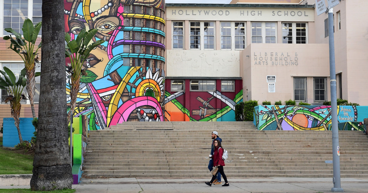 L.A. and San Diego school districts to start year online as virus cases surge – NBC News