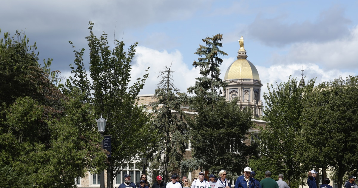 Notre Dame withdraws as 2020 presidential debate host citing coronavirus threat – NBC News