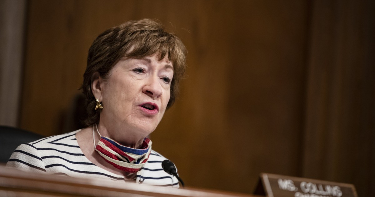 Vulnerable GOP Sen. Susan Collins splits with Trump: Wait until after the election to replace Ginsburg
