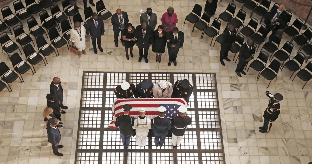 Civil rights icon Lewis lauded as a warrior at Georgia Capitol – NBC News