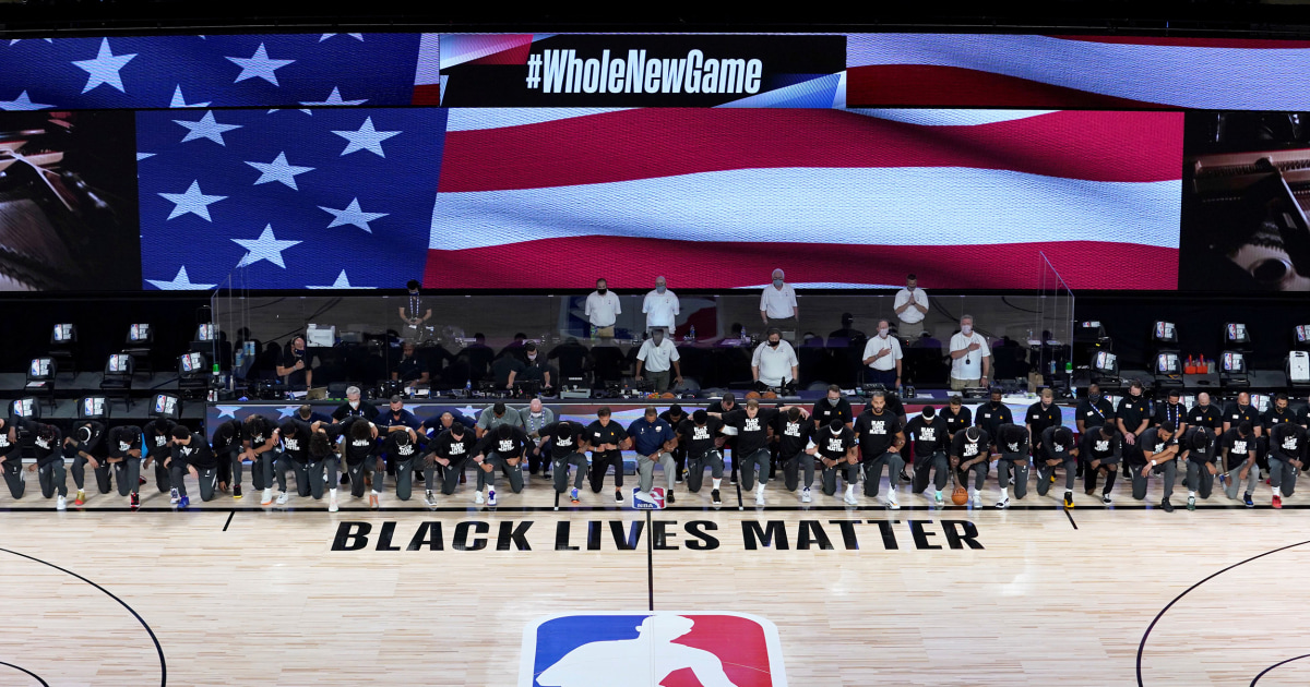 NBA players protest racial injustice as league returns to action thumbnail