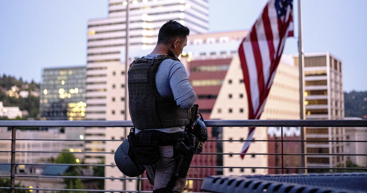 'They have to defend themselves': U.S. Marshals speak out on violent clashes with Portland protestors – NBC News