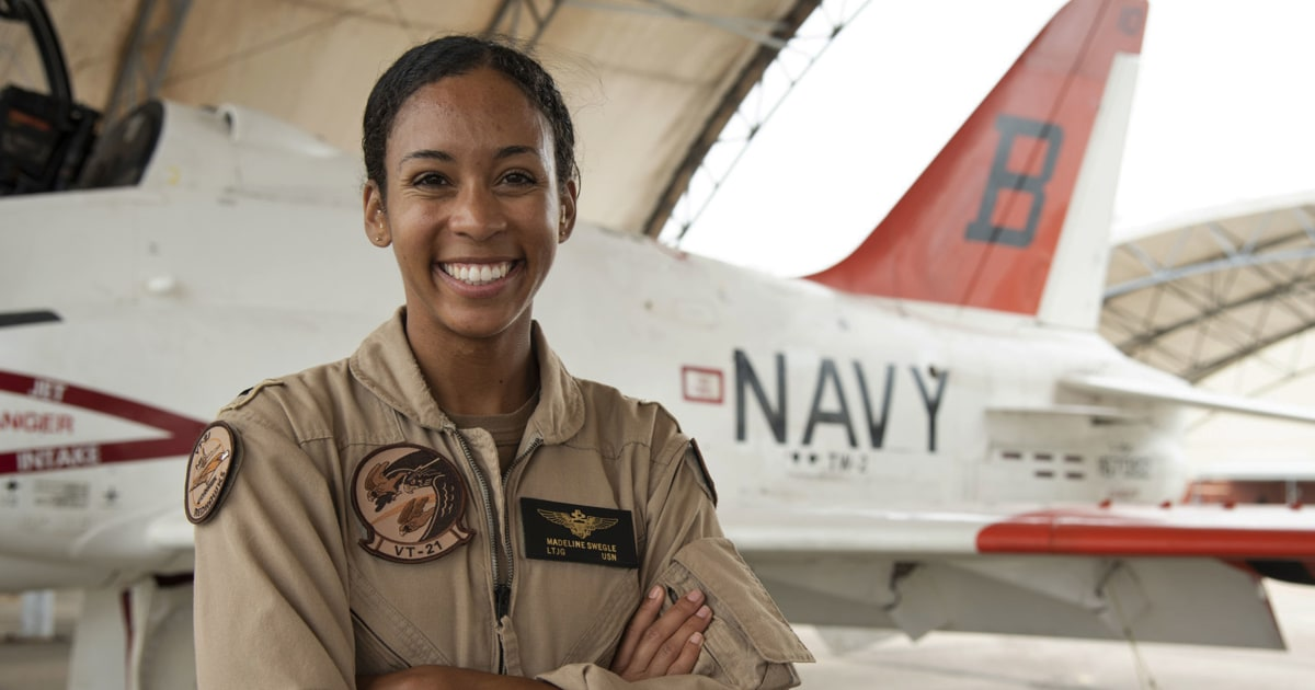 A historic milestone: U.S. Navy's first Black female tactical air pilot earns 'Wings of Gold'