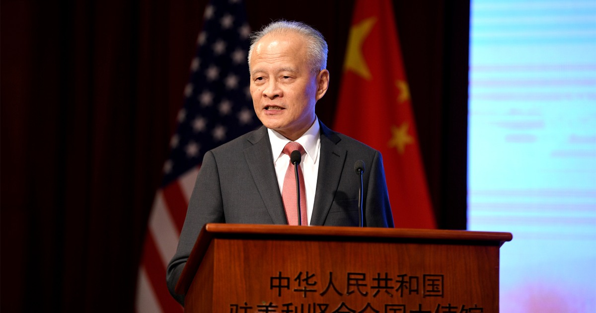 "U.S.-China relations are under ""unprecedented"" strain says Chinese ambassador to the U.S. – NBC News"