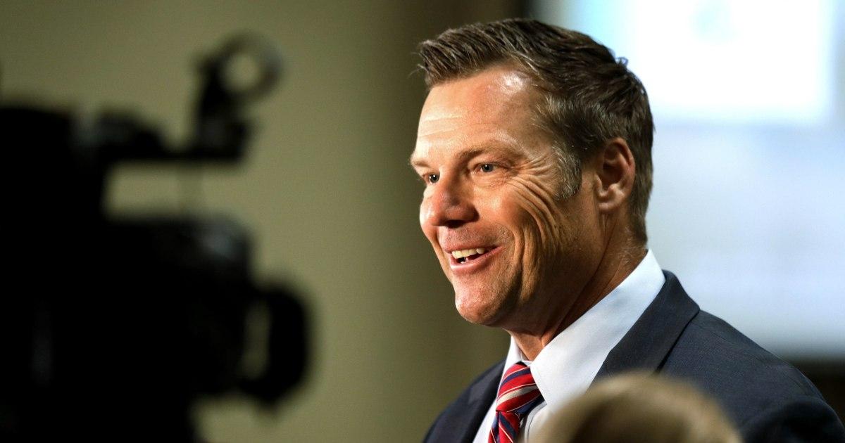 Kris Kobach loses Kansas Senate Republican primary to Rep. Roger Marshall