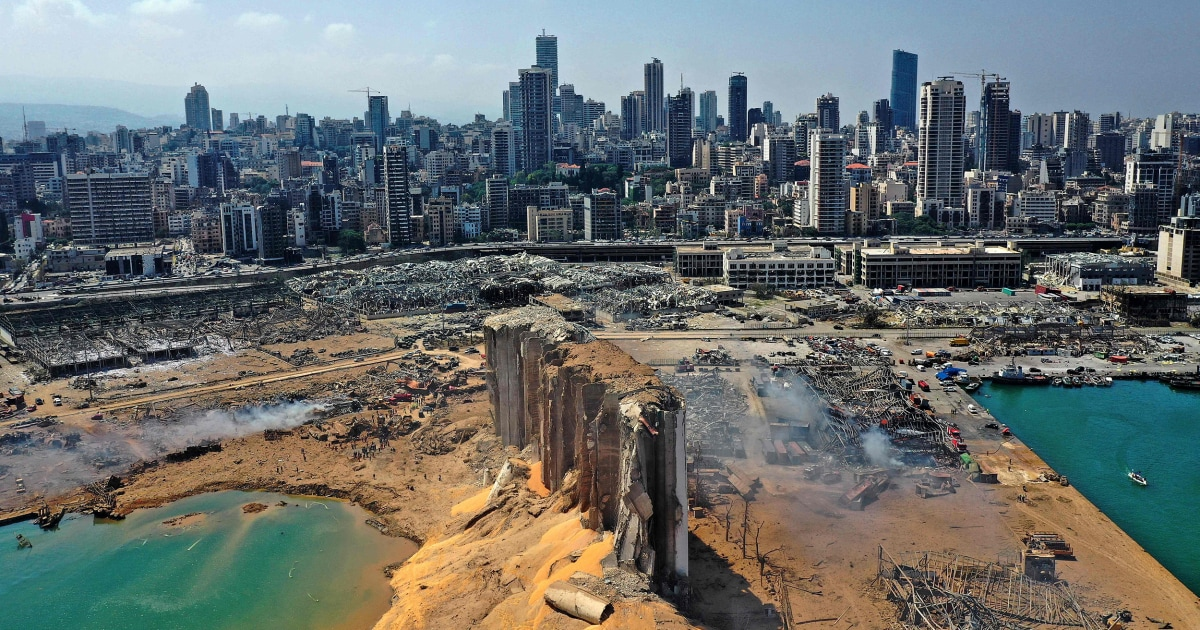 Photos: Massive explosions rock Beirut