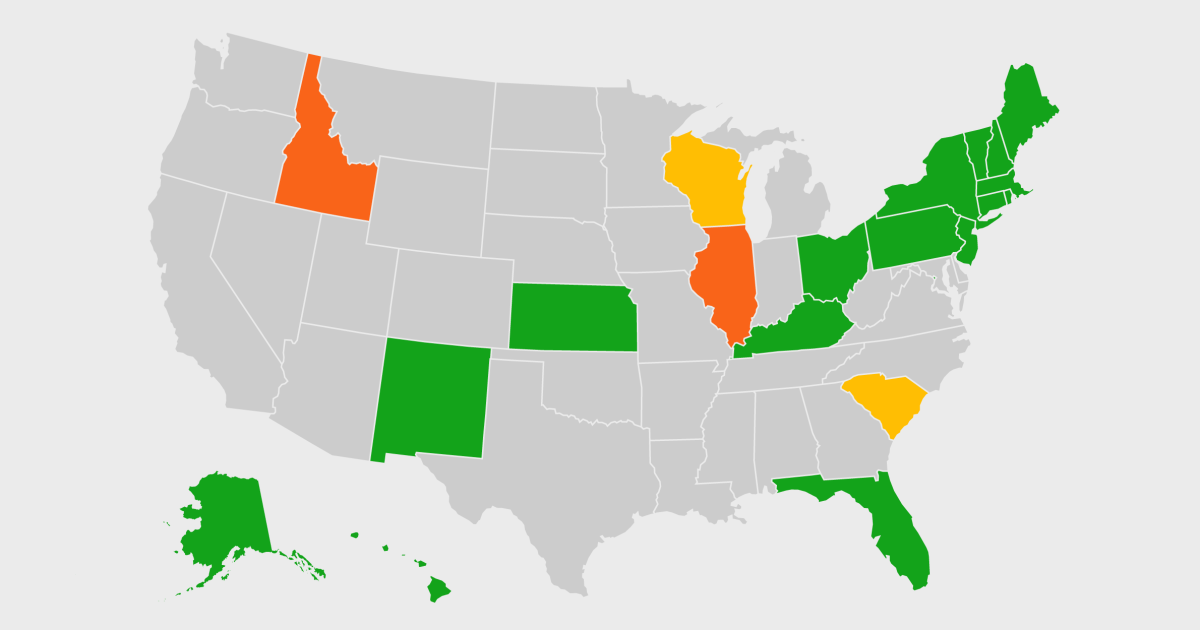 Map: Coronavirus travel restrictions by state